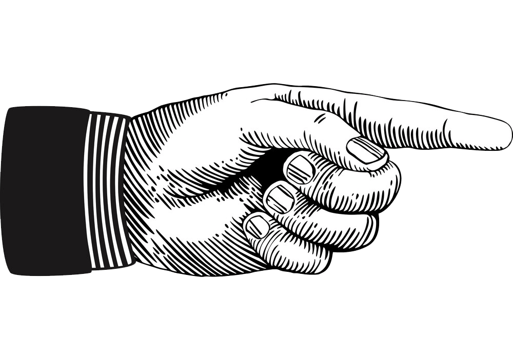 Pointing Hand clipart transparent 1