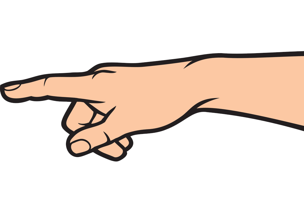 Pointing Hand clipart transparent