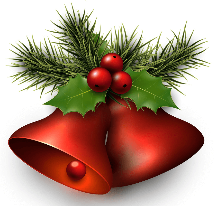 Red Christmas Bells clipart