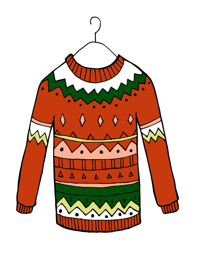 Red Christmas Sweater clipart transparent