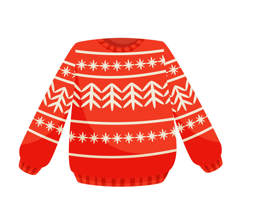 Red Christmas Sweater clipart