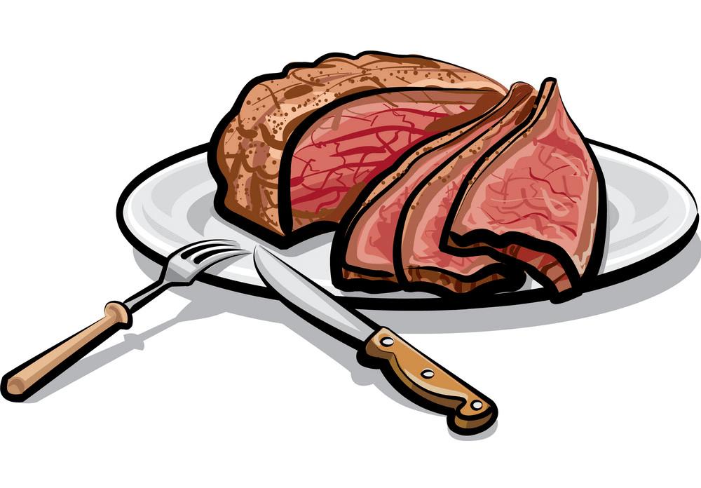 Roasted Beef Steak clipart