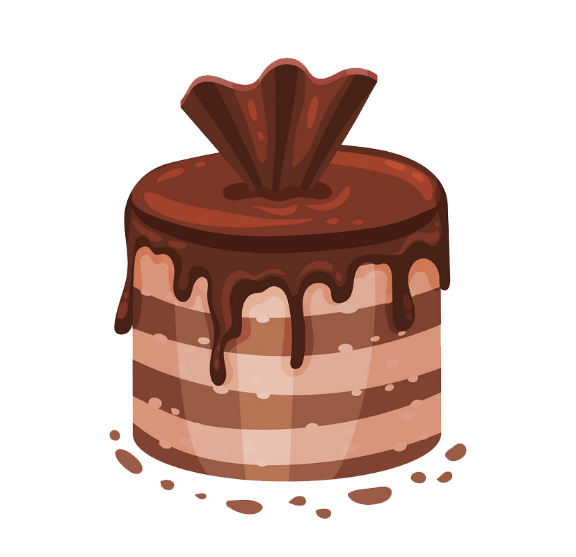 Round Chocolate Cake clipart transparent