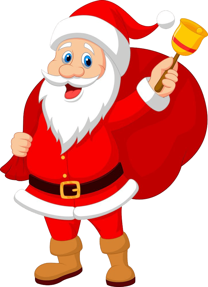 Santa Claus with Bell clipart transparent