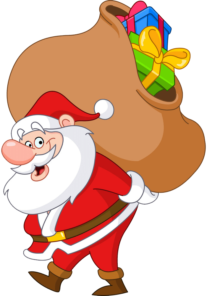 Santa Claus with Gifts Bag clipart transparent