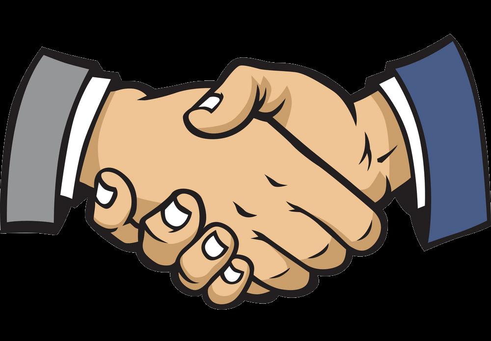 Shake Hands clipart transparent