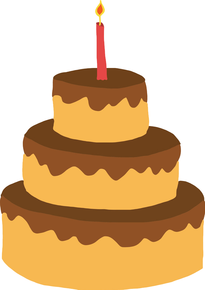 Simple Birthday Cake clipart transparent