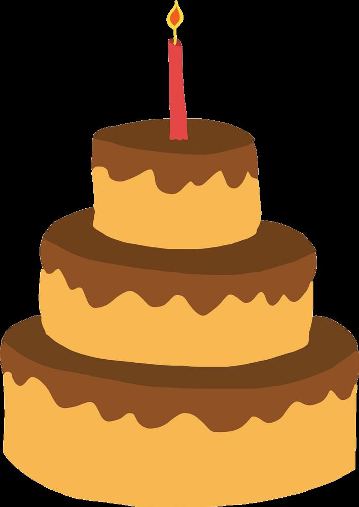 Simple Birthday Cake clipart transparent