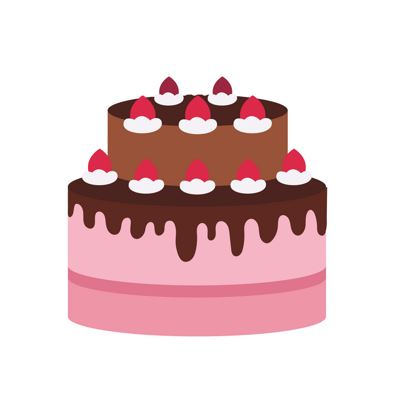 Simple Birthday Cake clipart