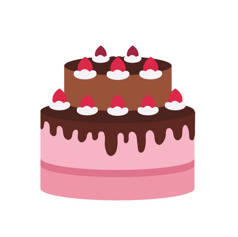 Simple Birthday Cake clipart