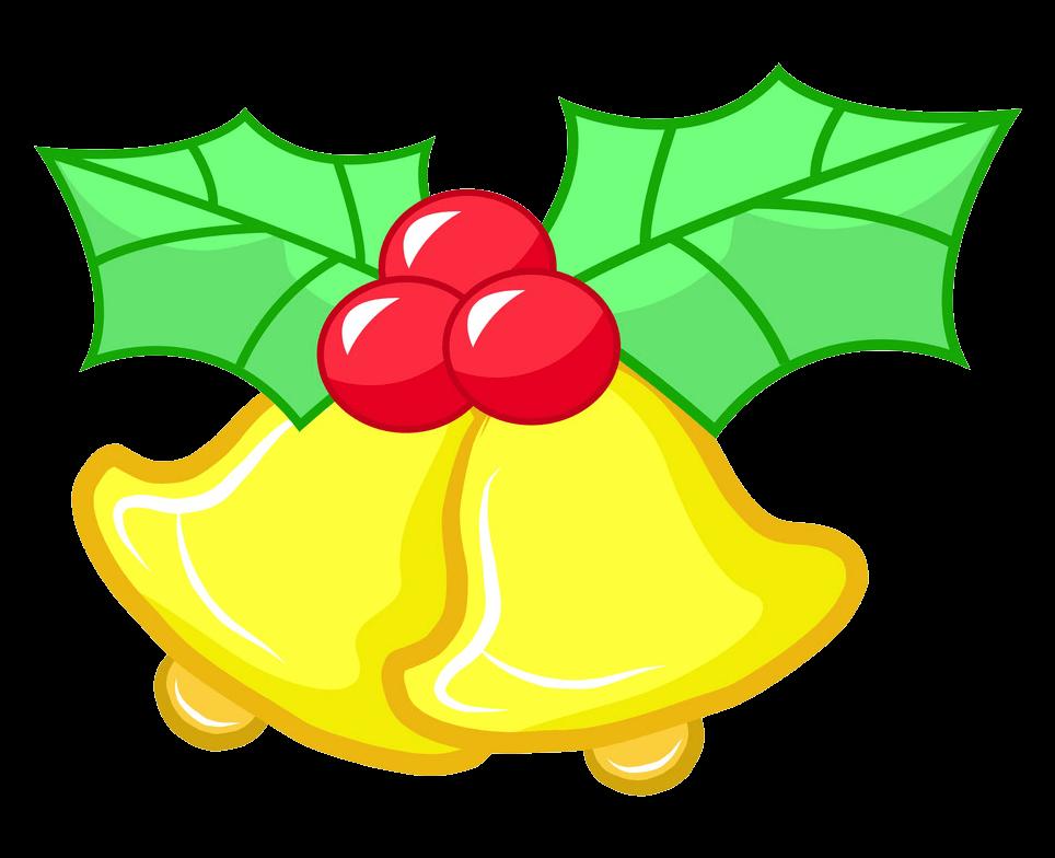 Simple Christmas Bells clipart transparent