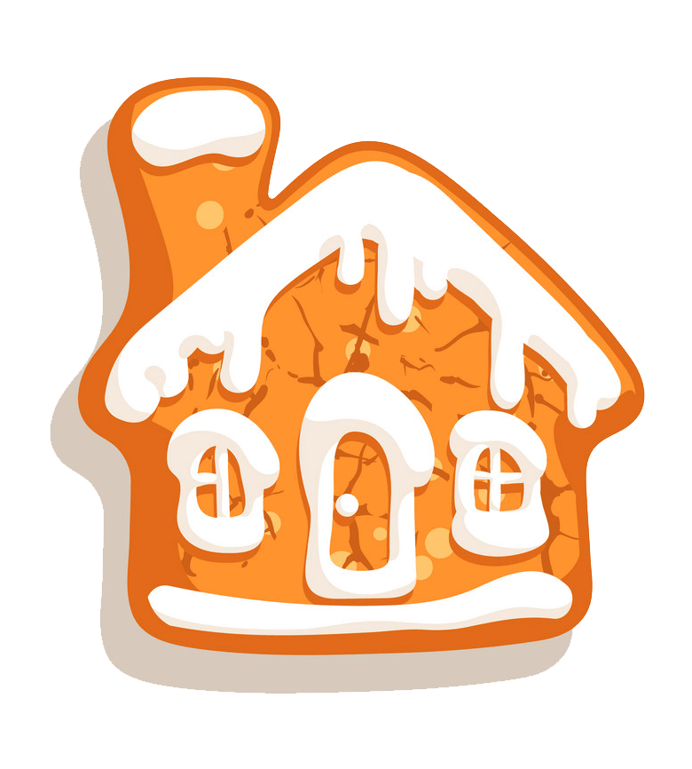 Simple Gingerbread House clipart transparent
