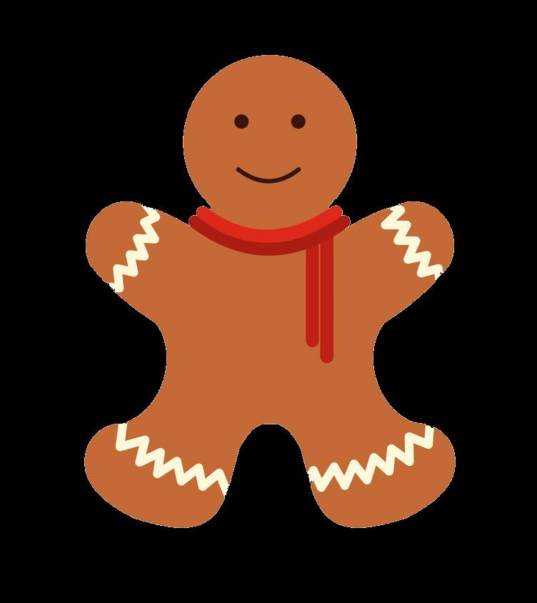 Simple Gingerbread Man clipart transparent