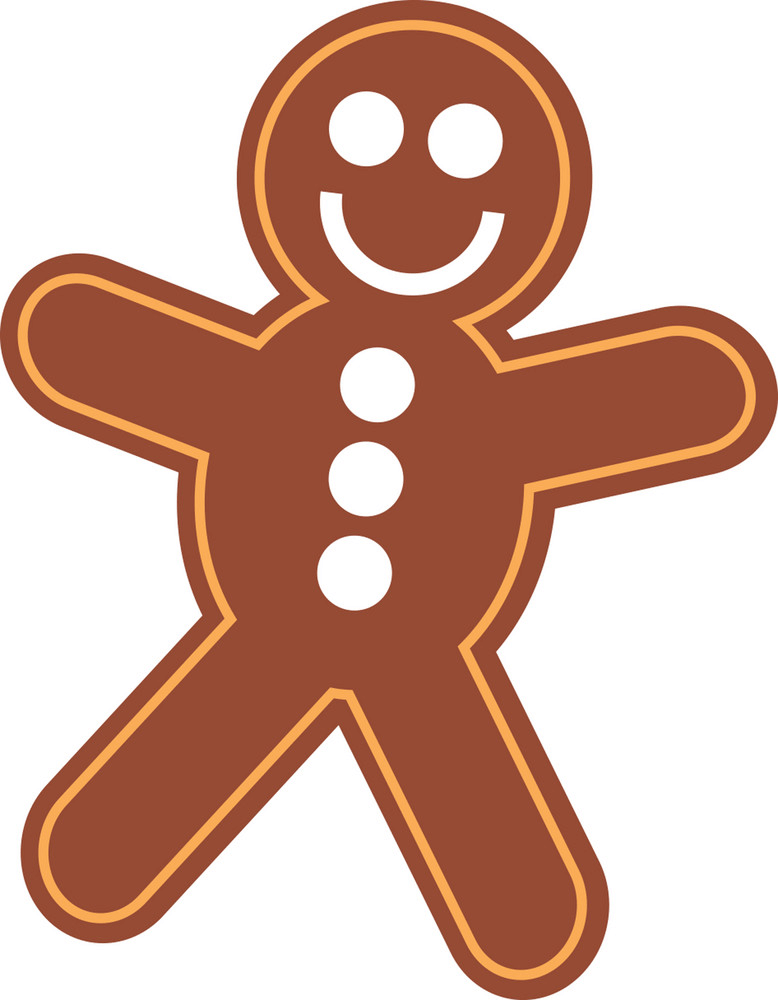 Simple Gingerbread Man clipart
