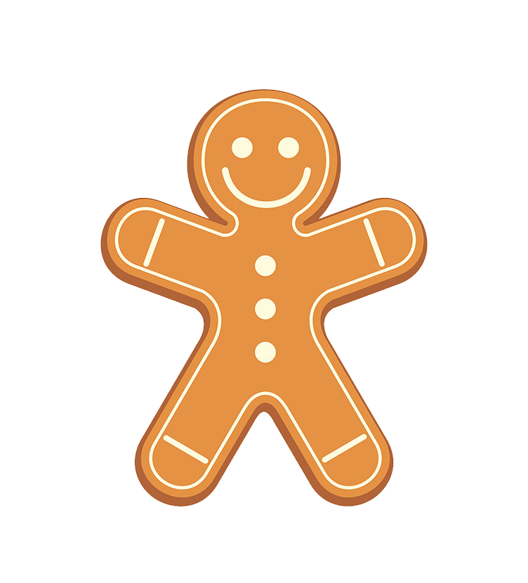 Simple Gingerbread Man transparent