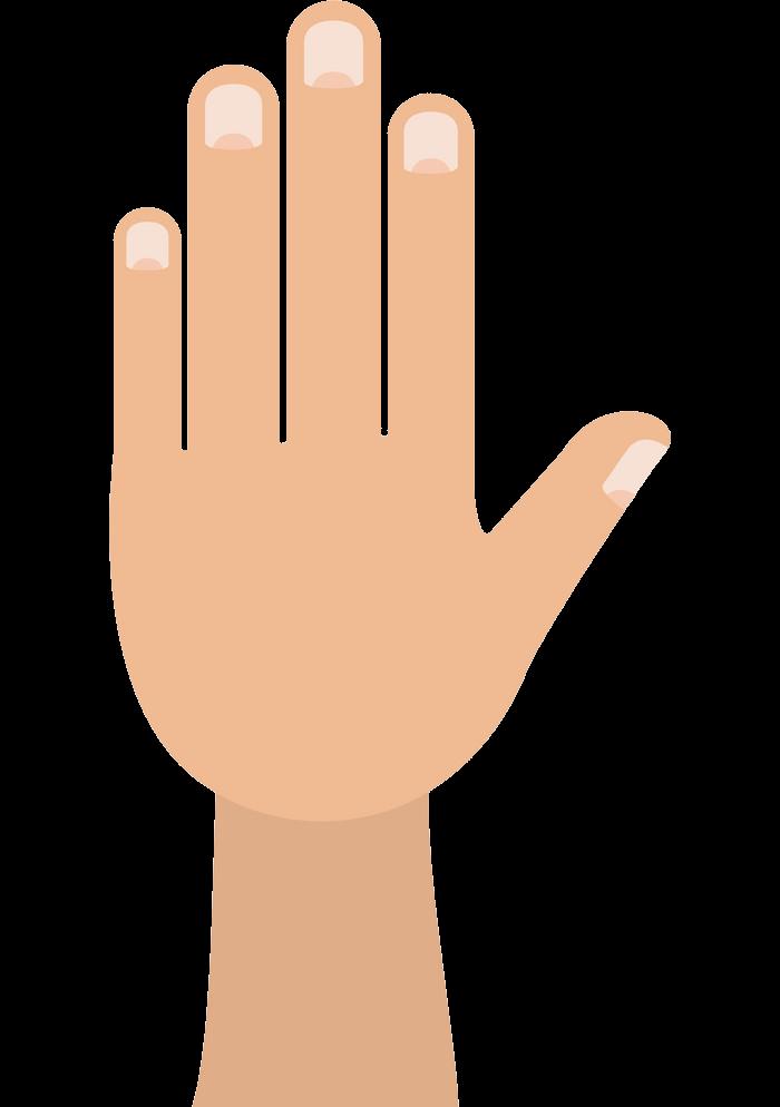 Simple Hand clipart transparent