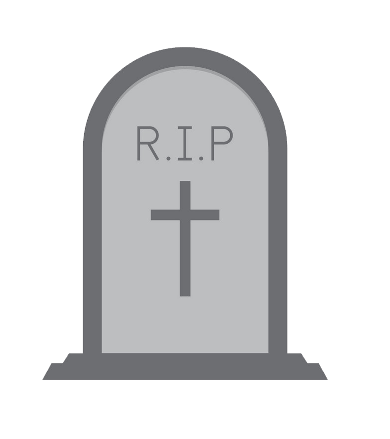 Simple Tombstone clipart transparent
