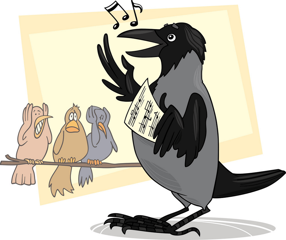 Singing Crow clipart
