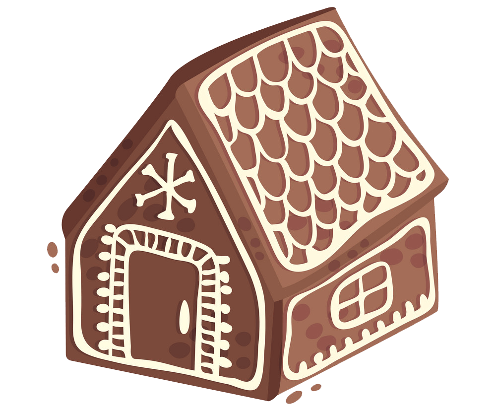 Small Gingerbread House clipart transparent