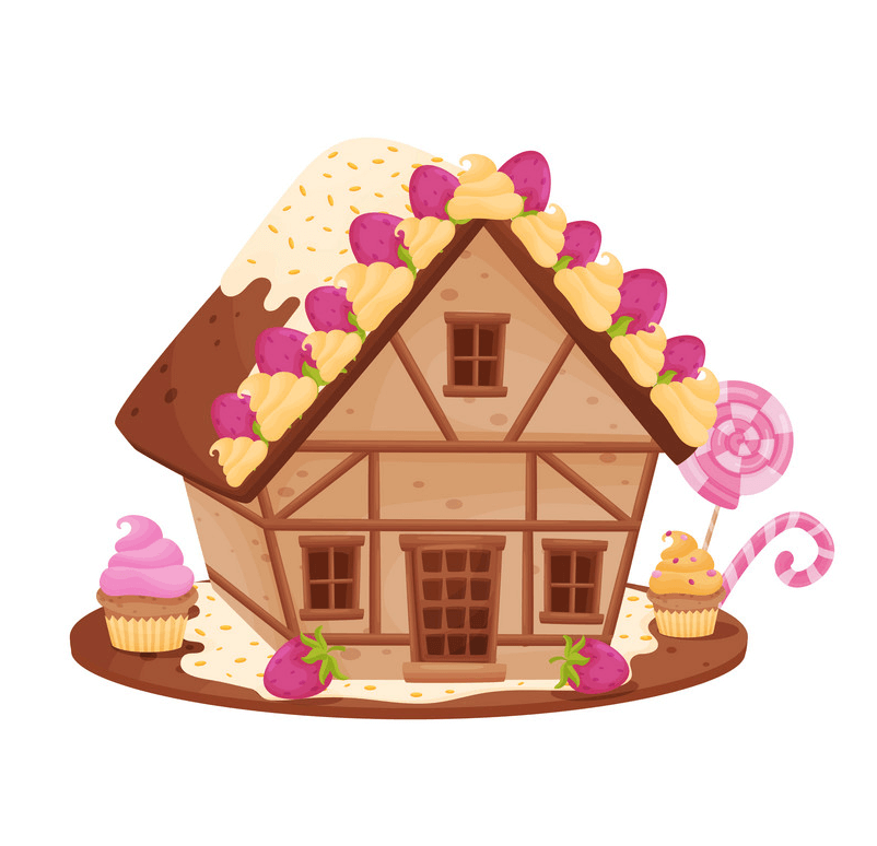 Small Gingerbread House clipart