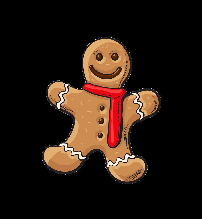 Small Gingerbread Man clipart transparent