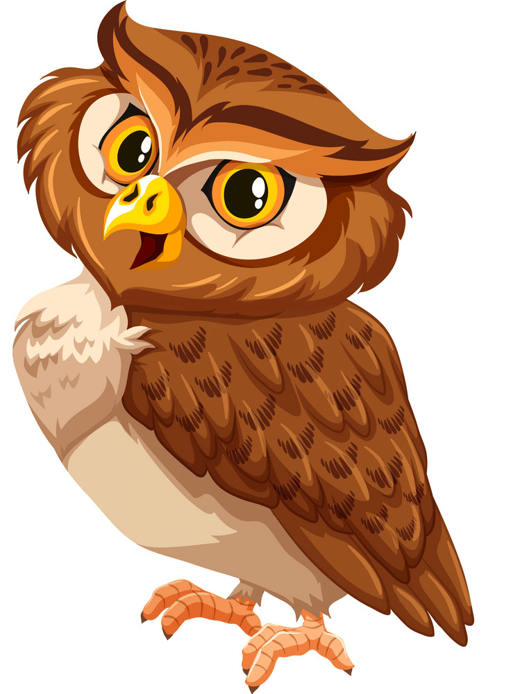 Smiling Owl clipart