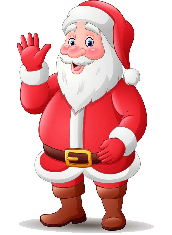 Smiling Santa Claus clipart transparent