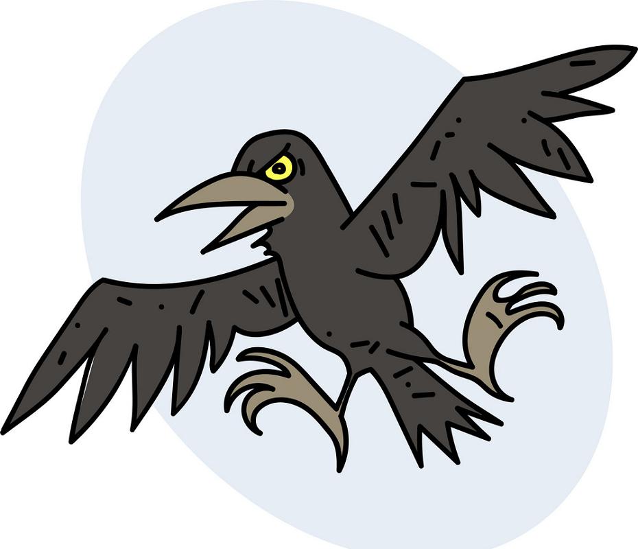 Spooky Crow clipart