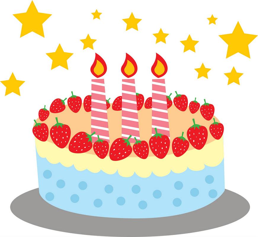 Strawberries Birthday Cake clipart