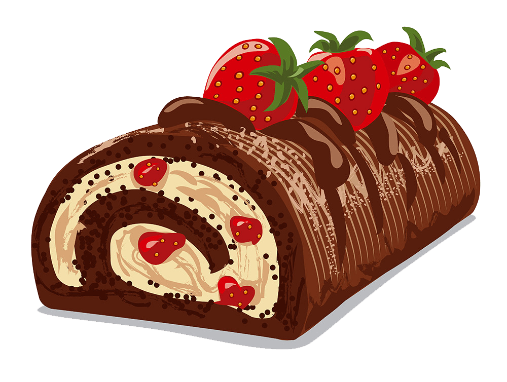 Strawberry Chocolate Cake clipart transparent