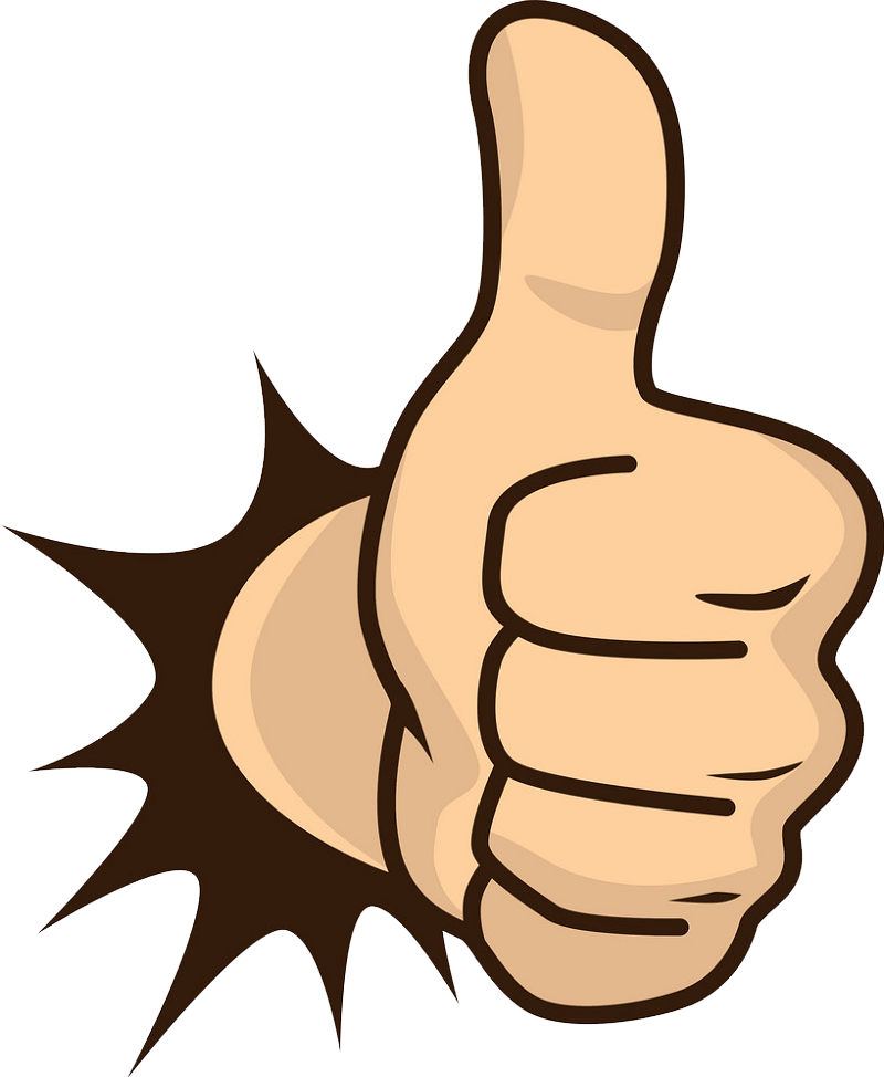 Thumbs Up Hand clipart transparent