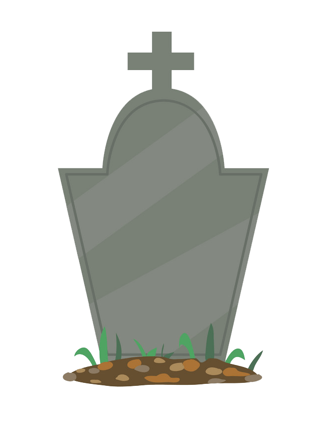 Tombstone clipart transparent 2