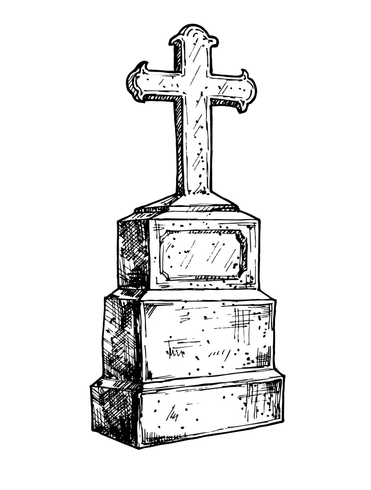 Tombstone clipart transparent 6