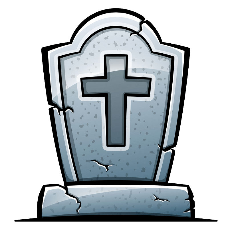 Tombstone clipart transparent 7
