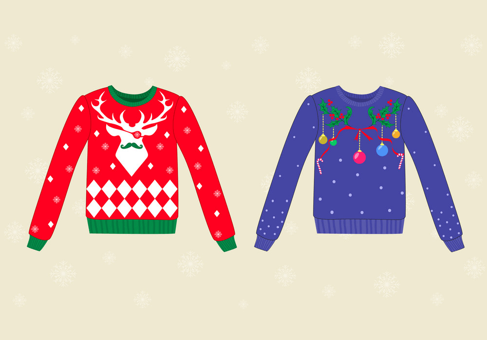 Two Ugly Christmas Sweaters clipart