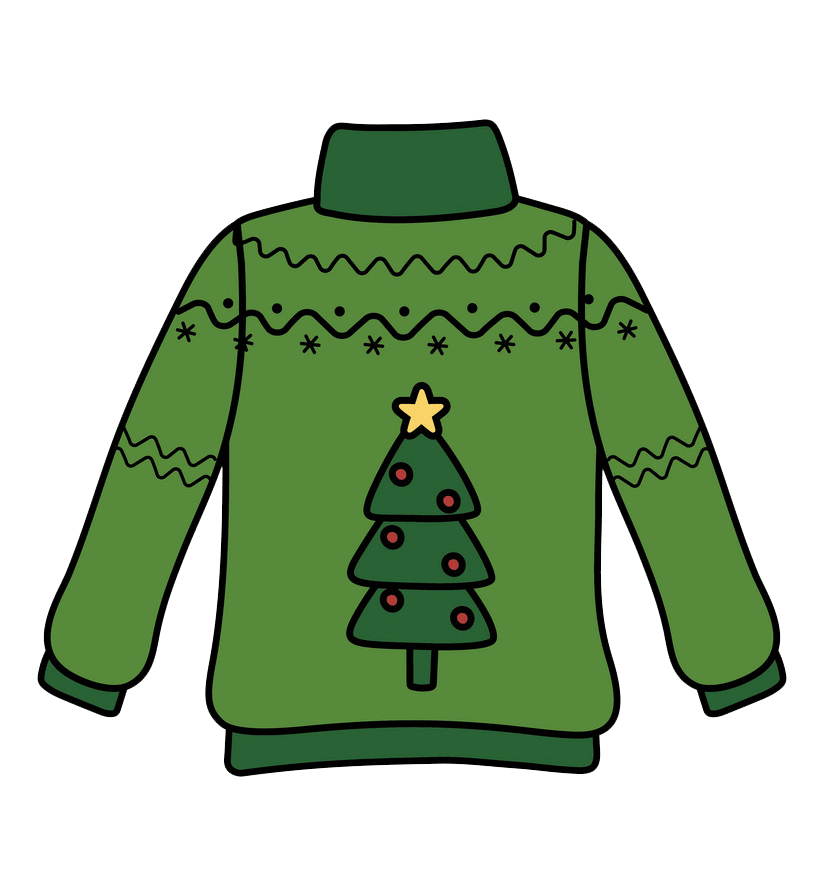 Ugly Christmas Sweater clipart transparent 1
