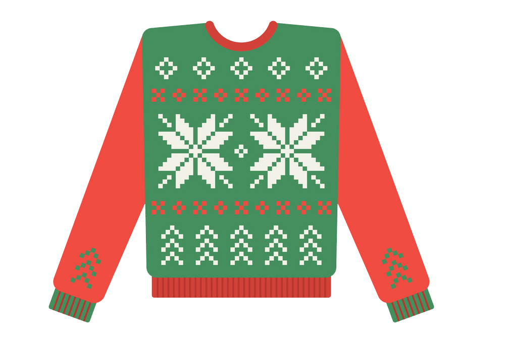Ugly Christmas Sweater clipart transparent
