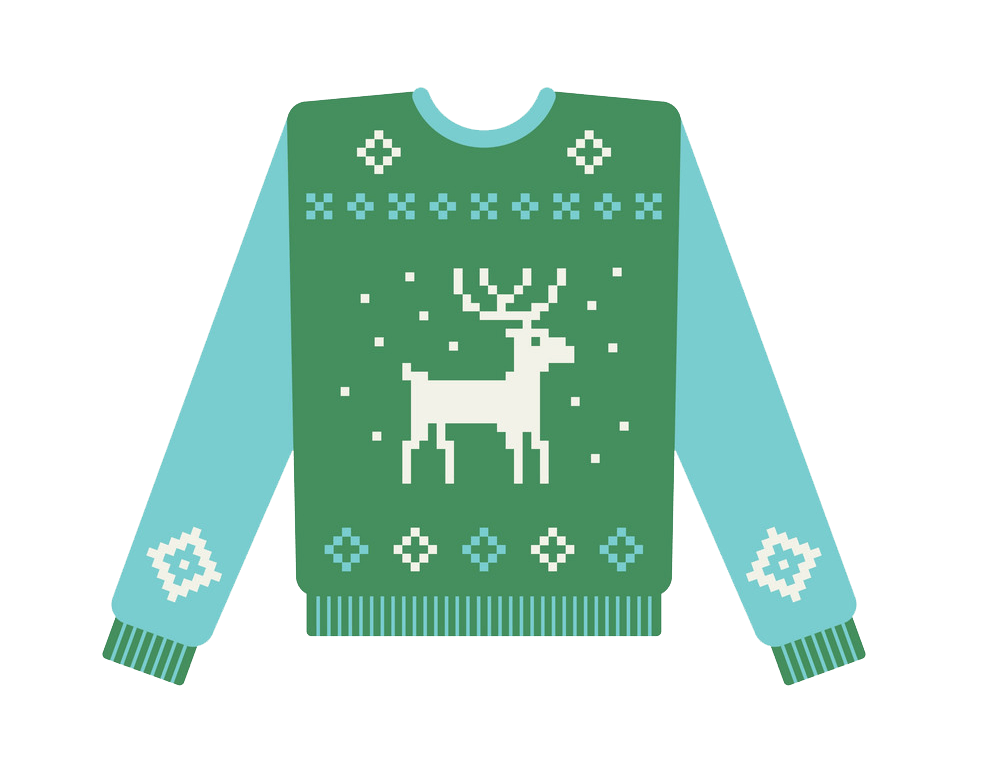 Ugly Christmas Sweater with Deer clipart transparent 1