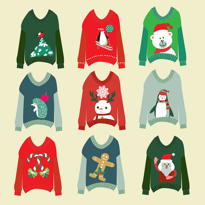 Ugly Christmas Sweaters Set clipart