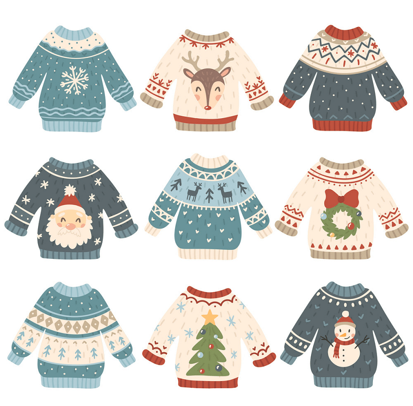 Ugly Christmas Sweaters clipart 1