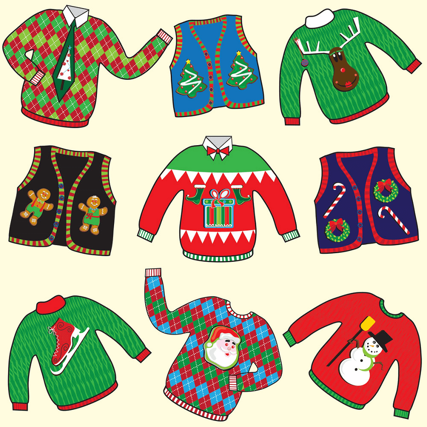 Ugly Christmas Sweaters clipart
