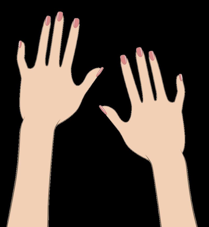 Woman Hands clipart transparent