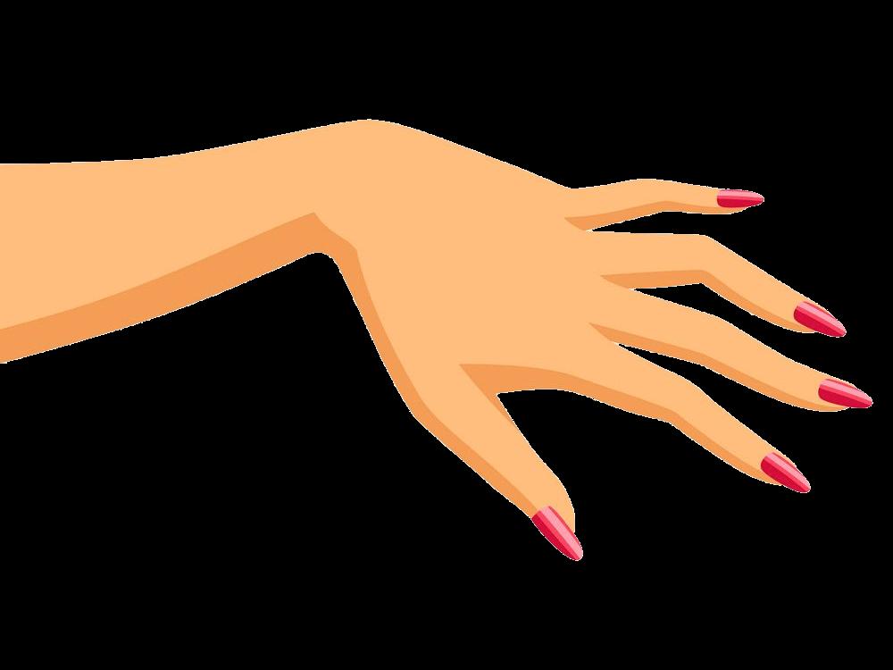 Woman Left Hand clipart transparent