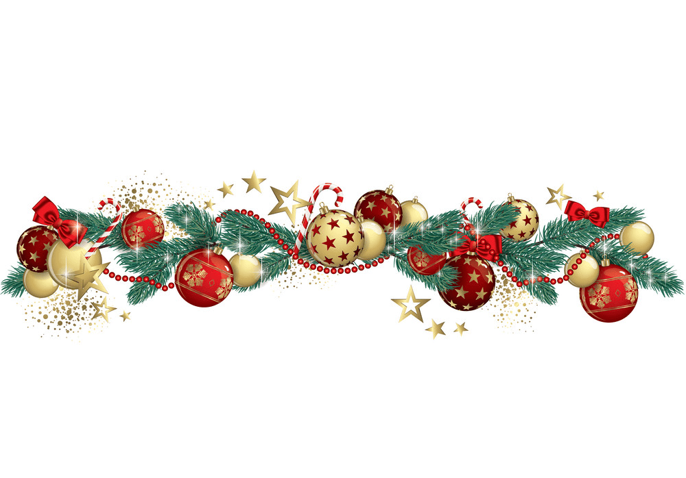 Wonderful Christmas Garland clipart