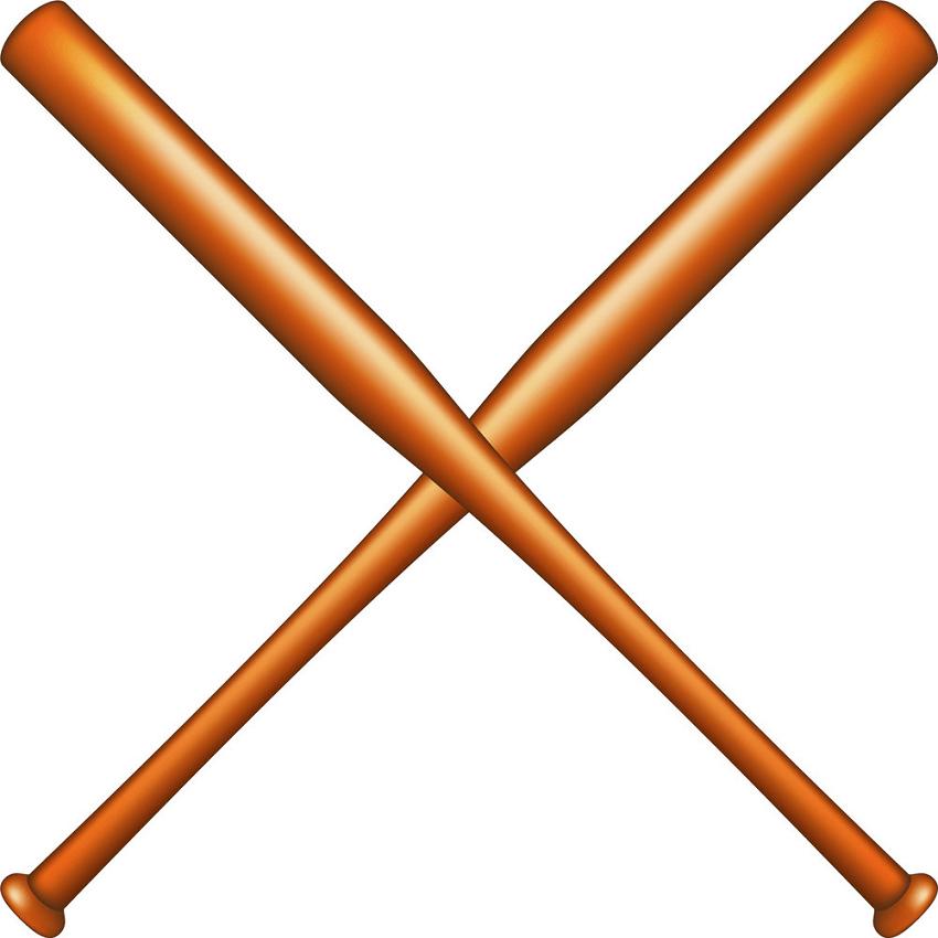 Wooden Baseball bats clipart