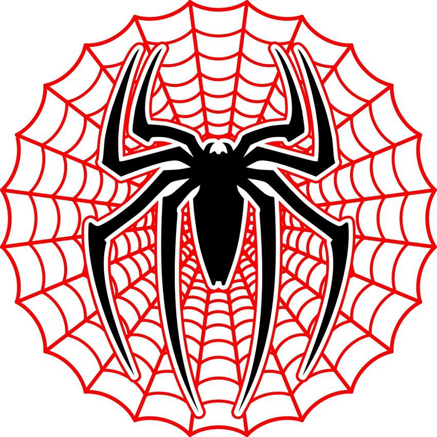 spiderman web symbol clipart