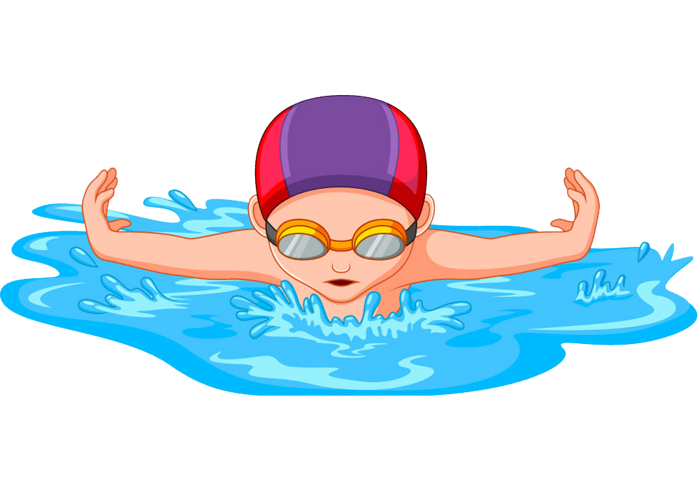 A Kid Swimming clipart transparent