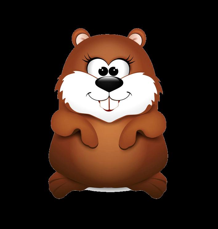 Adorable Groundhog clipart transparent