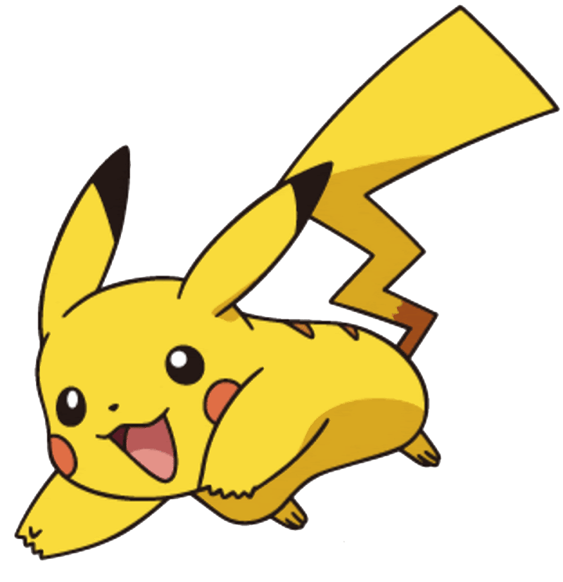 Adorable Pikachu clipart transparent