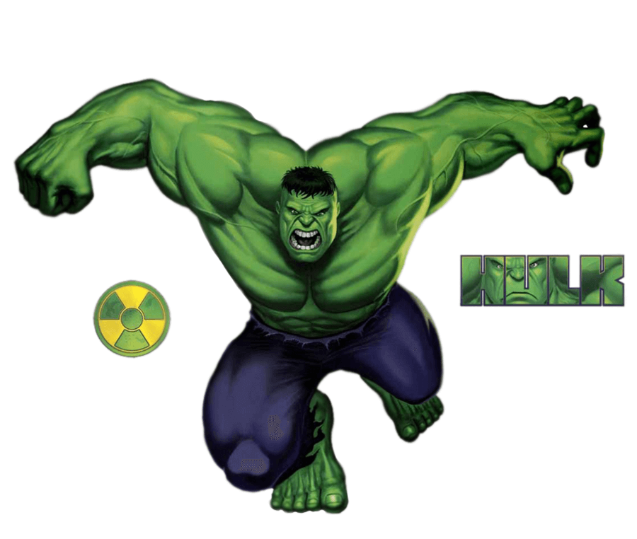 Angry Hulk clipart 1